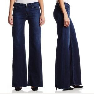 Hudson Signature Dark Wash Wide Leg Flare Jeans